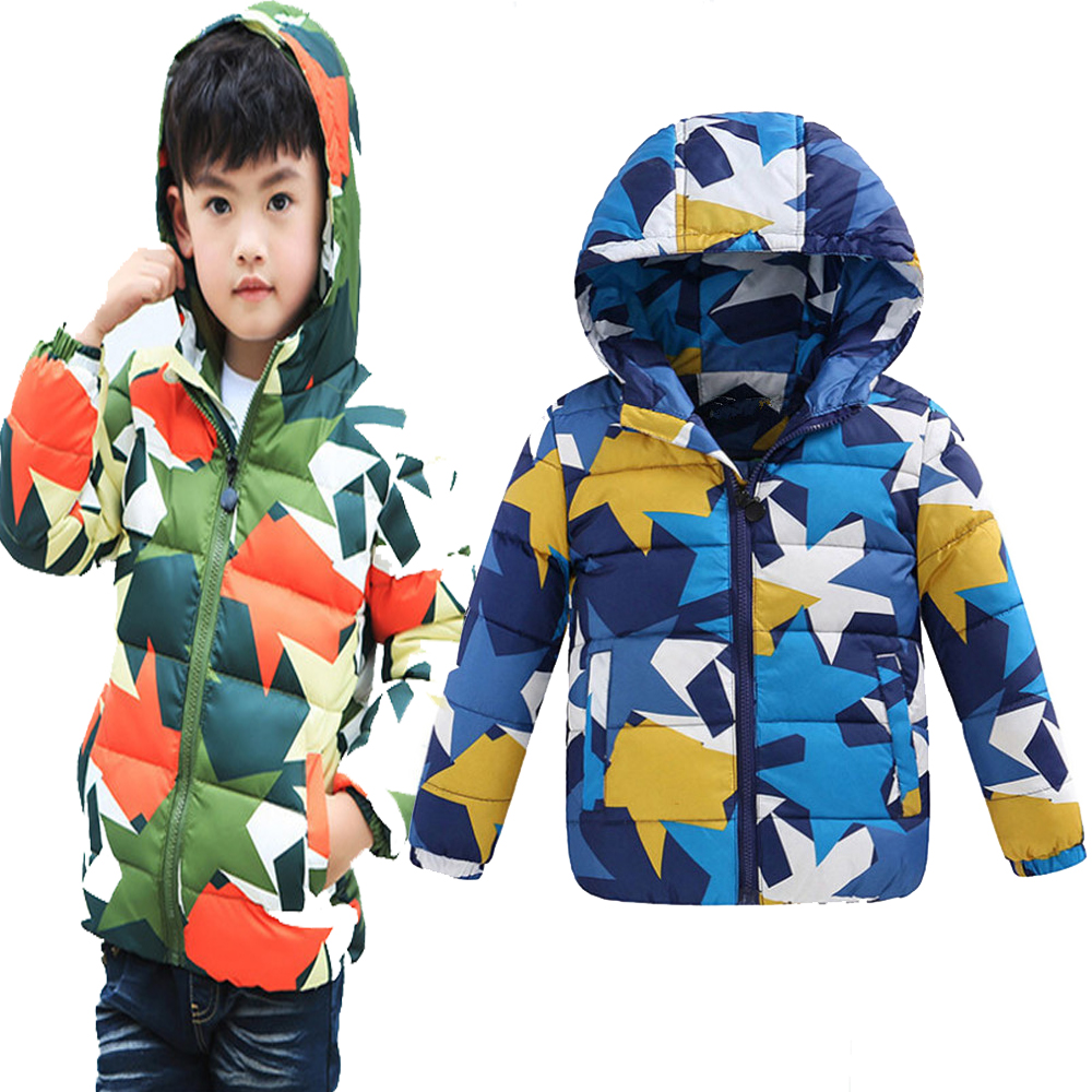 Winter children coat large clearance girls&boys hooded children fashion cotton coat short thickening factory wholesale 120-150(China (Mainland))