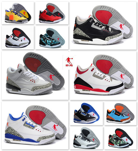 New arrival top quality retro china jordan 3 men basketball shoes best service for you US Size 5.5-8.5 Free Shipping(China (Mainland))