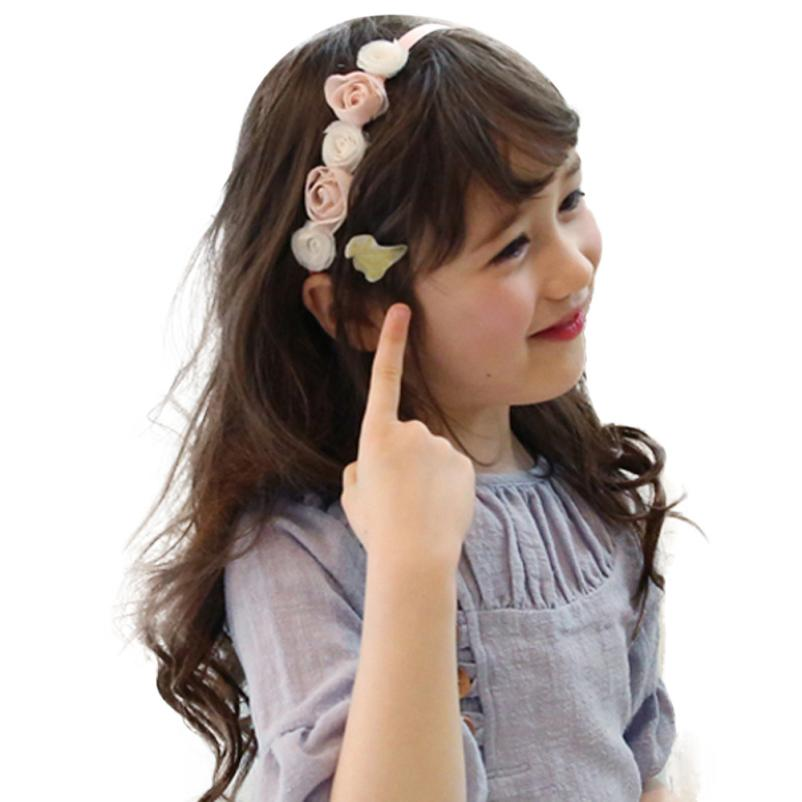 Baby Hair Band Ribbon Rose Flower Hairband Baby Hair Band Children Hair Accessories Girls Flower Scrunchy #2415(China (Mainland))