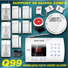 New 99 Wireless Zones PSTN Phone landline Security Burglar Smoke Alarm Secure House For intercom Protection Easy&Simple DIY