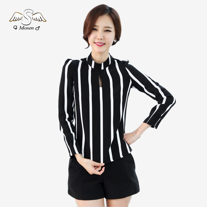 2016 Plus Size Women Office Shirts And Tops New Korean Style Fashion Cute Hollow Out Long Sleeve
