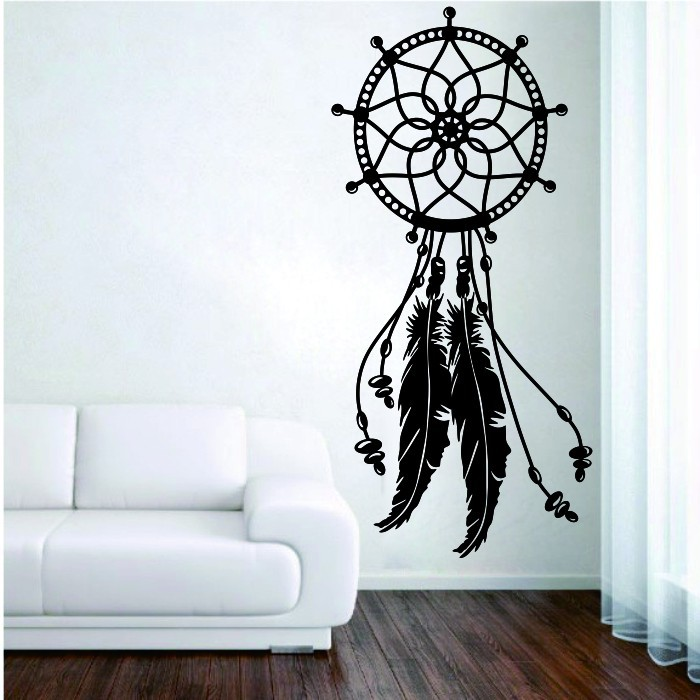 newest home decor dreamcatcher feather wall sticker creative special