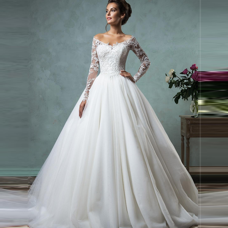 Im435 romantic ball gown wedding dress 2016 bride dress for Romantic wedding dress designers