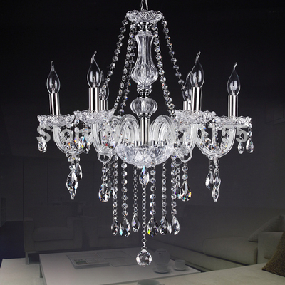 6 Bulbs European Candle Crystal Chandeliers Ceiling Bedroom Living Room Modern(China (Mainland))