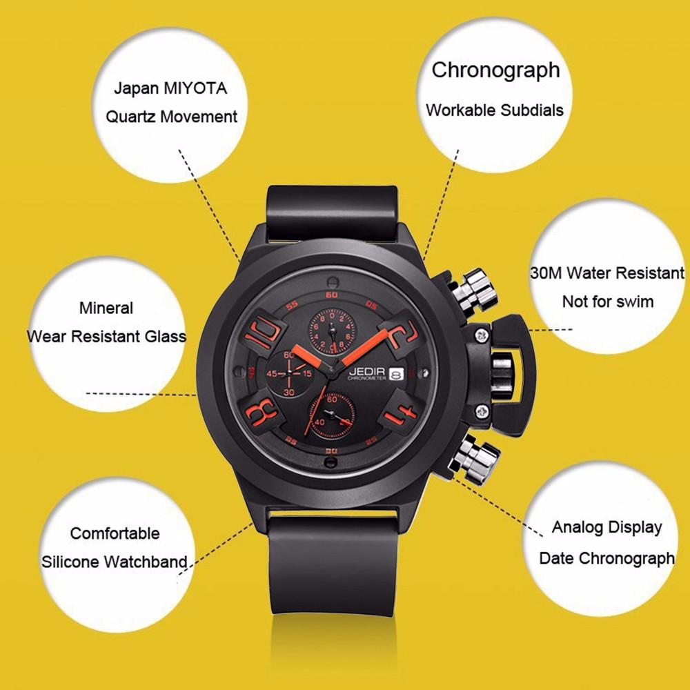 2016 мужская Мода Спортивные Часы ХРОНОГРАФ Часы Мужчин Спорта Случайные часы Наручные Часы Армии Военные Часы Montre Homme Reloj
