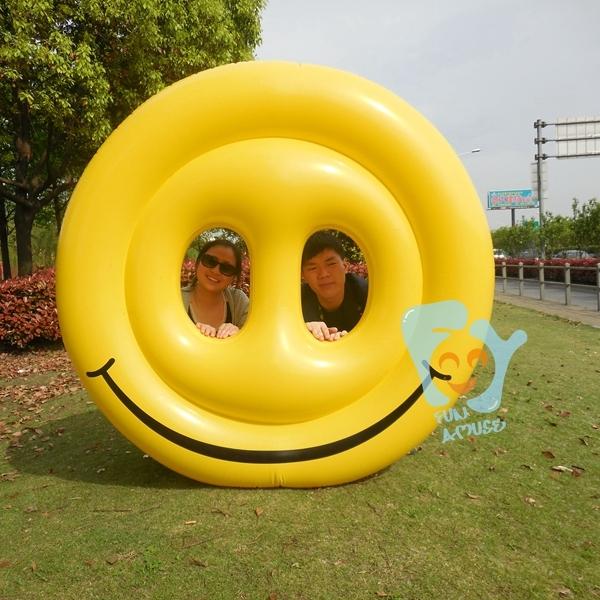 Новые акции летний водопровод Fun 62 дюймов 160 см надувные желтый смайлик бассейн поплавки плавательный бассейн игрушки надувной воздушный матрац