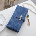 2017 Designer Brand Women Wallets Drawstring Nubuck Leather Zipper Wallet Women s Long Casual Design Purse