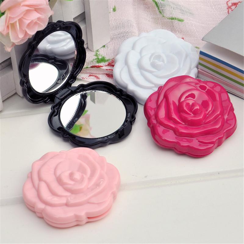 10pcs Retro roses Fashion Good Quality Foldable Portable Cosmetic Compact Mirror Women Pocket Mirror Chic Retro Makeup Mirrors(China (Mainland))