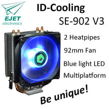 Free Shipping ID Cooling SE 902 V3 Gamer Computer CPU Cooler with 9 2cm Blue LED
