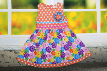 Summer style 2015  girl dress princess  for the girl clothes for baby clothes 2-11 years old children  Flowers bowknot