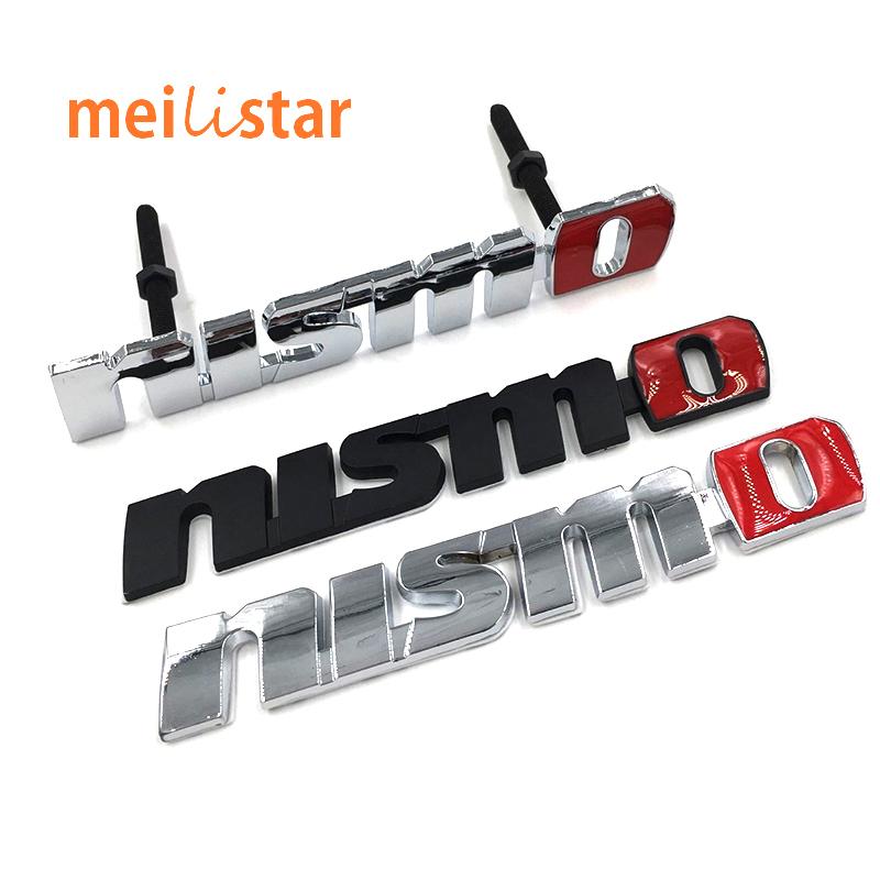 Chrome NISMO Auto Car Stickers Badge Emblem Car Styling For Nissan Tiida Teana Skyline Juke X-trail Almera Qashqai Accessories(China (Mainland))