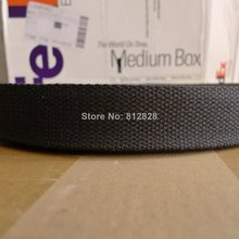 50 Yards 1.25'' 32mm #1 Black Color High Quality Bag Straps Polyester Webbing(China (Mainland))