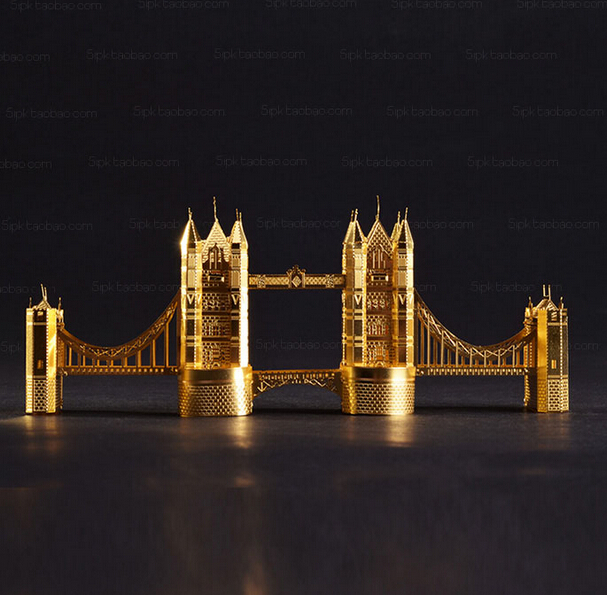 DIY 3D Metal Puzzle juguetes educativos 3d puzzle Tower Bridge of London Jigsaw Scale Models educational toys puzzles(China (Mainland))
