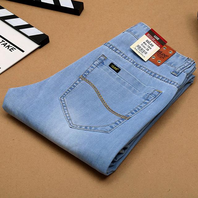 2016 весна лето стиль регулярно подходят джинсы тонкий Utr светло-тонкий бренда мужчин ...