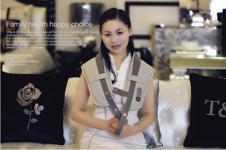 Body massager shoulder massage device cape slim massage belt back neck shape belt gift plug(China (Mainland))