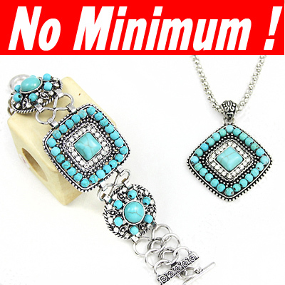 silver -plated turquoise jewelry sets necklaces & pendants bracelets & bangles necklace set fashion christmas sale umode nke-j94(China (Mainland))