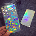 3D Diamond Bling Laser Melting Rainbow Colors Print Case For iPhone 5S 5 6 6plus Hologram