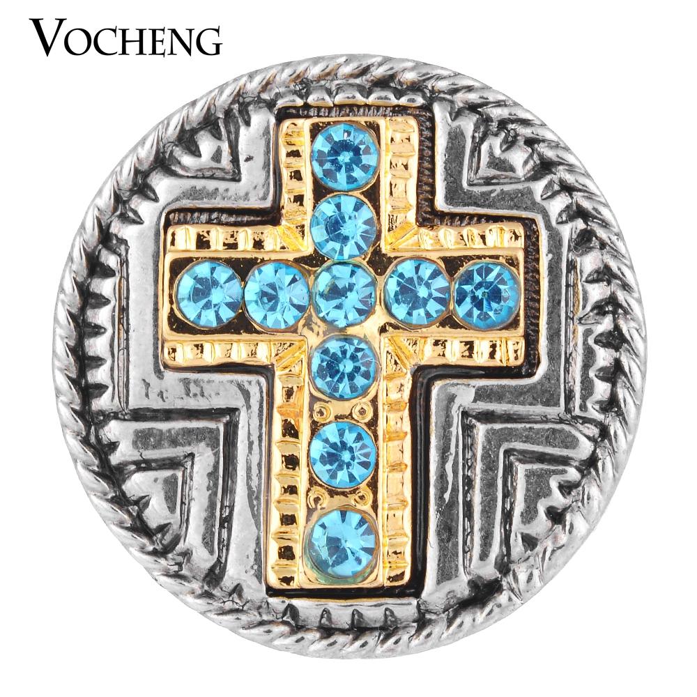20PCS/Lot Wholesale Vocheng Gold Plating Faith Vintage Button Snap Inlay 2 Colors Rhinestone Vn-1121*20 Free Shipping(China (Mainland))
