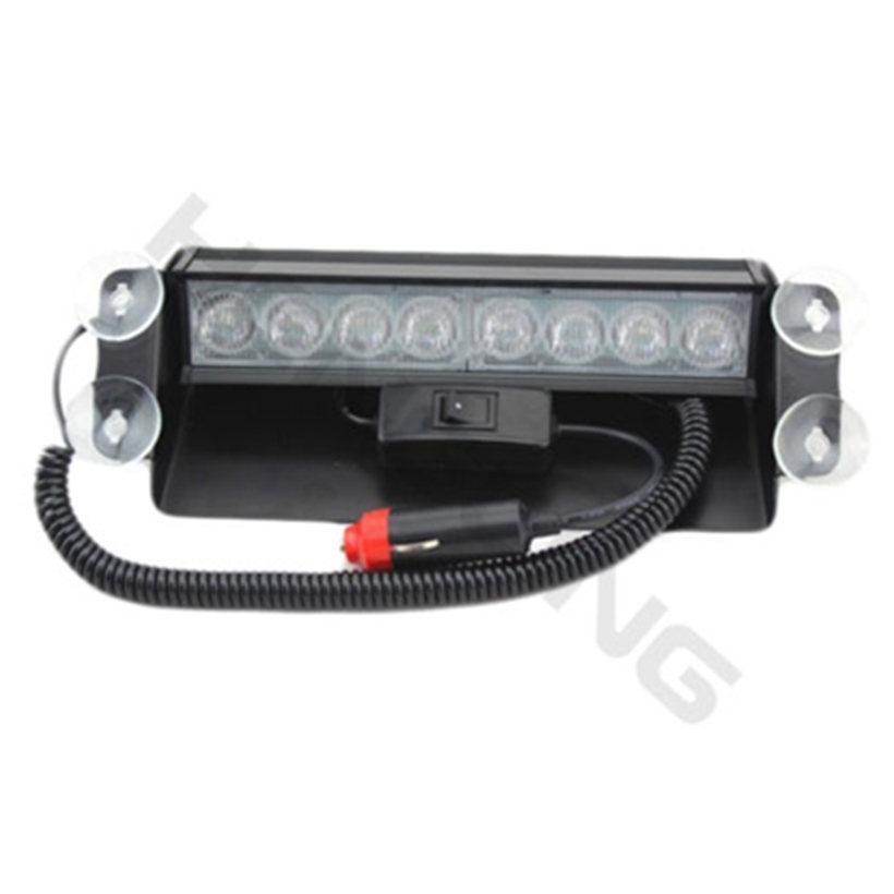 New Car Styling 8 LED Red Blue Car Police Light Strobe Flash Light Dash Emergency 3 Flashing Fog Lights Free shipping