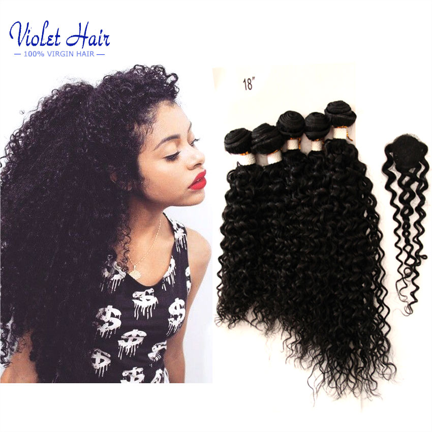 Ms Lula Hair With Closure 5 Bundles Peruvian Curly Hair With Closure Ms Lula Hair With Closure And Bundles All in one wave 200g