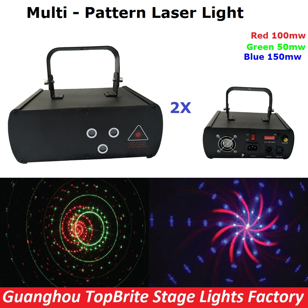 2XLot Mini Size Laser Light RGB Full Color Beam Stage Lighting Nightclubs Disco DJ Lights 300MW Professional Stage Equipments