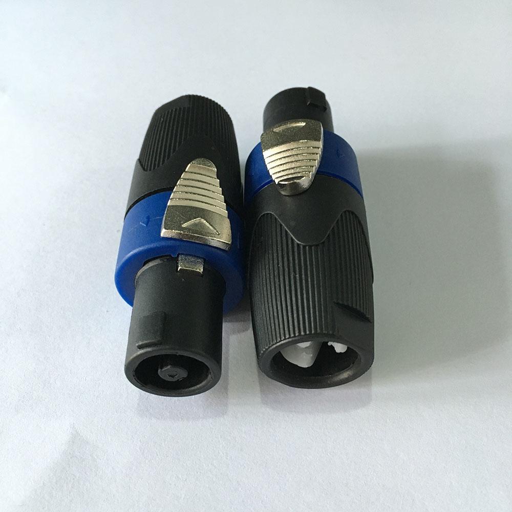 8pcs High Quality Blue Ring New Type NL4FX Speakon Locking Plug 4 Pole Male Audio Speaker Connectors(China (Mainland))