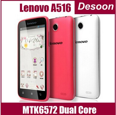 "In Stock Lenovo A516 MTK6572 Dual Core Android 4.2 Smart Phone 4.5"" IPS 512MB 4GB 5.0MP Camera 3G Google play Root/Koccis(China (Mainland))"