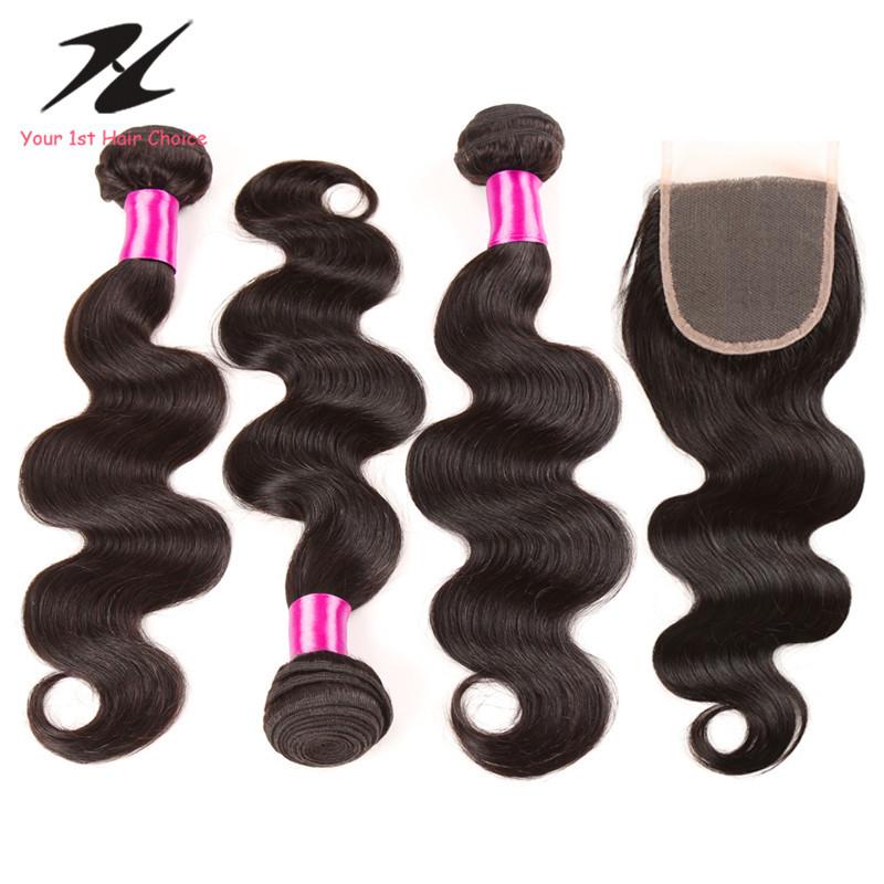 Гаджет  HC Brazilian Virgin Hair With Closure Brazilian Virgin Hair Body Wave With Closure 6a Brazilian Hair Weave Bundles With Closures None Волосы и аксессуары