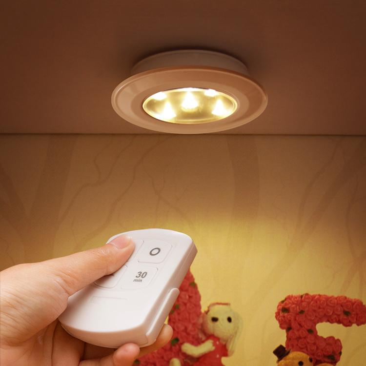 one control to multi lamp cabinet lamp wireless control night light LED wardrobe light bedside lamp(China (Mainland))
