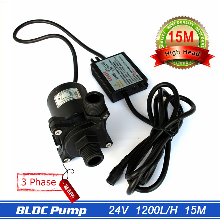 High pressure pump, 1200LPH 15M High Lift, 5-24V DC Submersible Small Water Pump, brushless DC motor Driven, for Hot Water(China (Mainland))