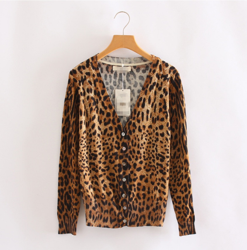 Leopard Cardigan Express - Sweater Grey