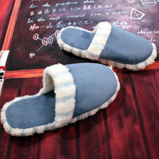 Autumn and winter cotton-padded thermal thickening plush slippers cotton drag home lovers cotton-padded shoes(China (Mainland))