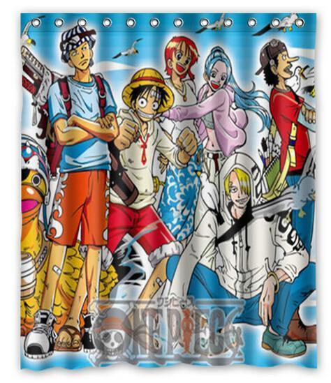 "One Piece adventure best sell 2015 children favorite gift cartoon Shower Curtain (60"" x 72"")(China (Mainland))"