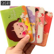 1 X Cute Kawaii Cartoon Girls Purse Credit ID Business Cards Holder Case Bag Protector 12 Slots(China (Mainland))
