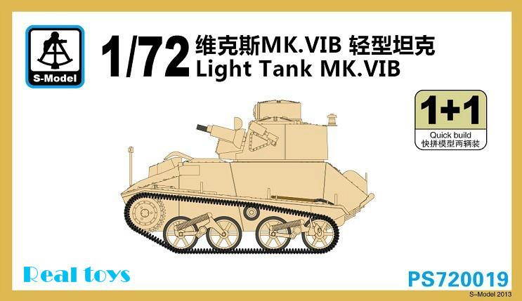 S model 1 72 PS720019 Light Tank MK VIB Plastic model kit