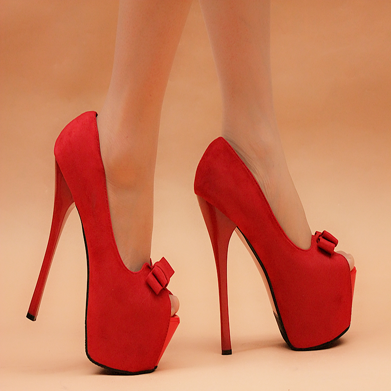 2015 new high-heeled shoes sexy shoes fine with waterproof ultra high heels nightclub 16cm red wedding shoes<br><br>Aliexpress