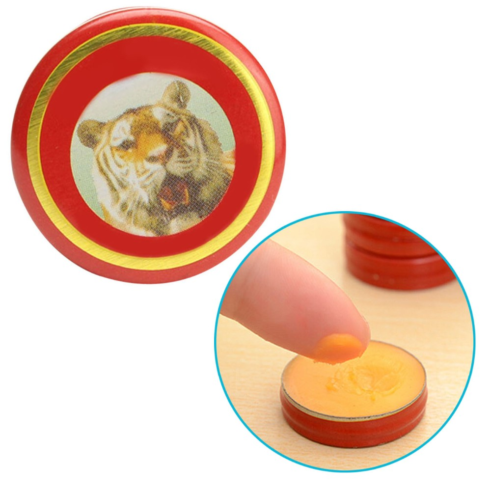 5pc Essential Oil Influenza Cold Headache Dizziness Summer Mosquito Chinese Qingliang Oil Yellow Solid Tiger Balm(China (Mainland))