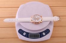 Luxury gold Geneva Women s watch Geneva PU Leather Analog Quartz dress Watches Beige Reloj clock