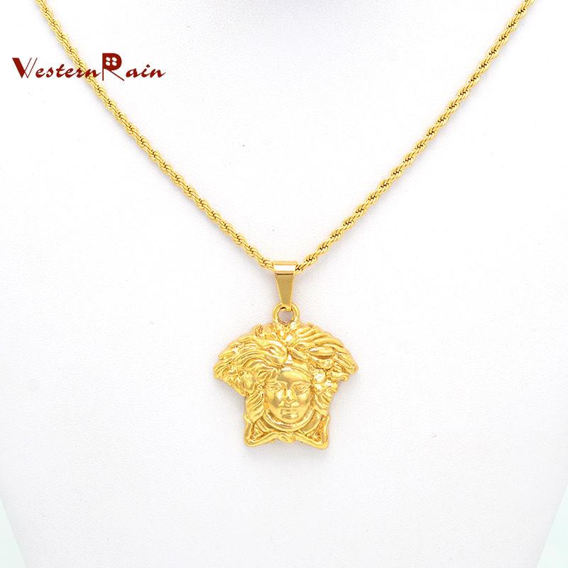 WesternRain Promotion Wholesale Cute Figure Pendants Italy/Australia Women Gold Necklace Jewelry F851(China (Mainland))