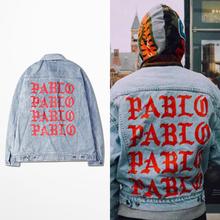 Denim Jacket Kanye West I FEEL LIKE PABLO Denim Coats M-2XL BF0473CJ