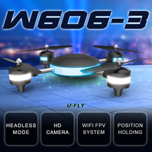 Drone Camera U-FLY HJW606-3 4D Roll 2.4G 7.4V WIFI 2MP FPV RC Model Plane Aerial Quadrocopter with LED Light