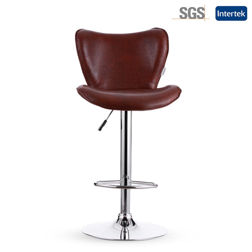 IKAYAA bar stools PU Leather Swivel Bar Stool Chair Height Adjustable Pneumatic Counter Pub Chair Barstools 2PCS/Set of 2(China (Mainland))