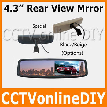 """Free shipping Brand New 4.3"""" TFT-LCD Special Rear View Mirror Car Monitor with Bracket"""