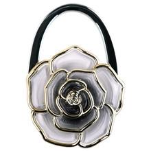 8 Colors Cute Alloy Folding Lady Purse Hook Handbag Holder Bag Hanger Rose Flower(China (Mainland))