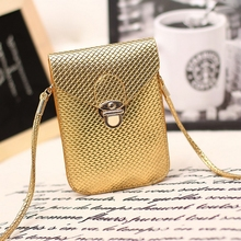 2016 Fluorescence Colors Women Mobile Phone Bags Fashion Small Change Purse Female Woven Buckle Shoulder Bags Mini Messenger Bag(China (Mainland))