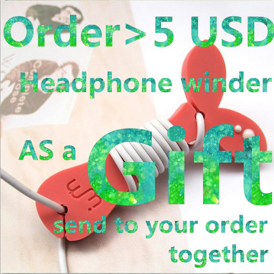 5pec/lots cute Grass cable organizer plastic cable winder cable holder headphone earphone organizer wire holder(China (Mainland))