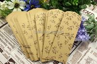 162 * 70 мм/старинные цветок & птиц Крафт закладки Пакет бумажный мешок/подарок мешок для закладки / для тега