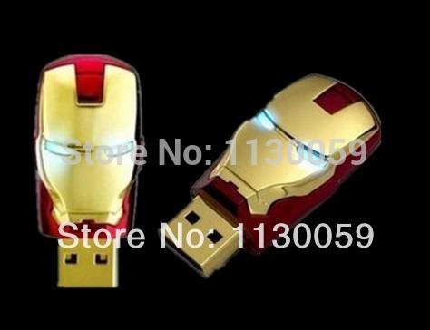 100% real capacity Diamond crystal metal iron man Heart Pen Driver 4GB/8GB/16GB/32GB USB Thumb Disk Pen Memory Stick S112(China (Mainland))