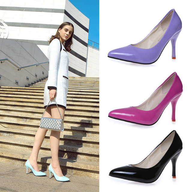 Summer explosion models wild pointed high-heeled shoes candy-colored Japanese wholesale European fashion women high heels(China (Mainland))
