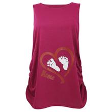 Summer Maternity clothes Tank top Love heart footprint pattern Sleeveless long tops pregnancy clothes nursing top vetement femme(China (Mainland))